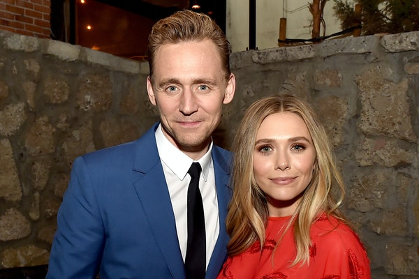 "LOS ANGELES, CA - MARCH 22:  Actors Tom Hiddleston (L) and Elizabeth Olsen pose at the after party for the premiere of Sony Pictures Classic's ""I Saw The Light"" at Sadie's Kitchen on March 22, 2016 in Los Angeles, California.  (Photo by Kevin Winter/Getty Images)"
