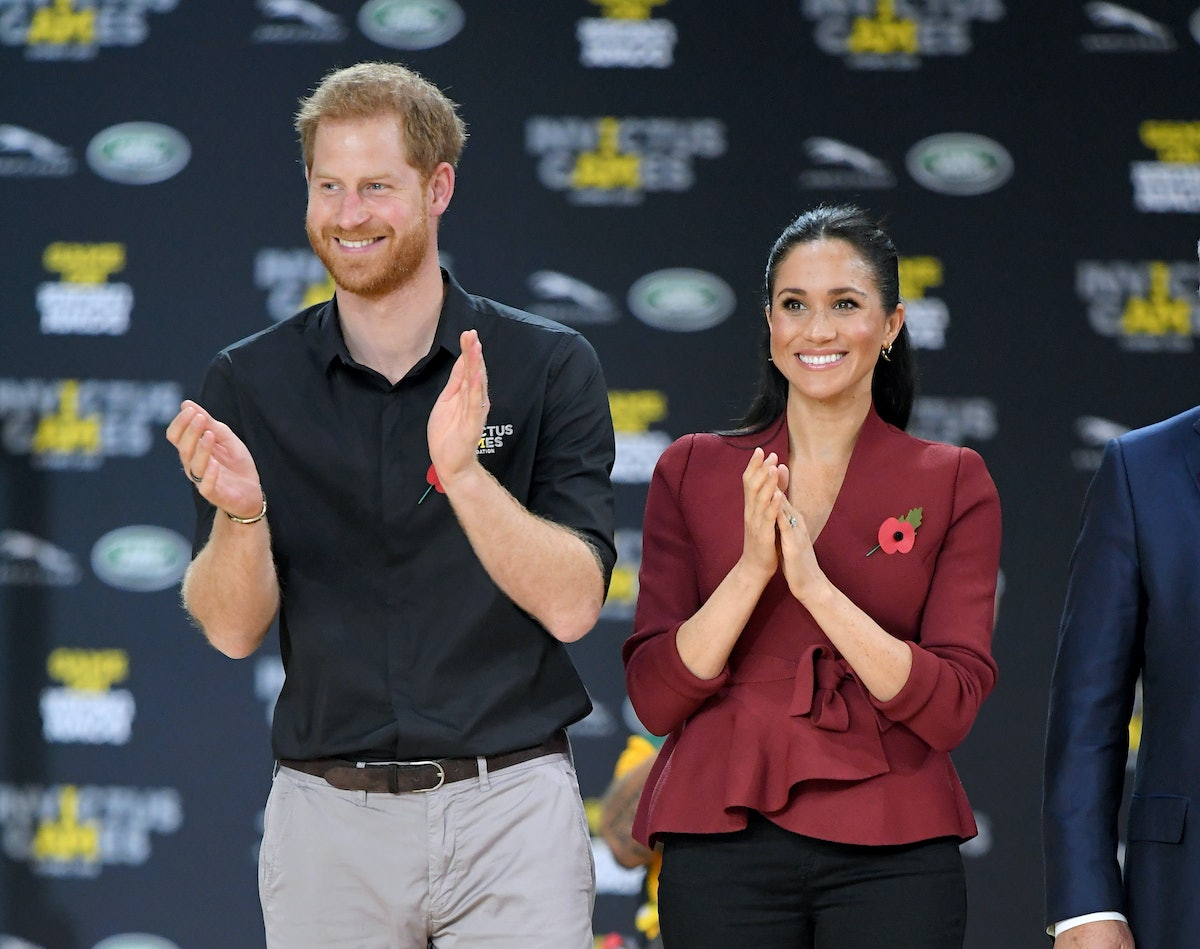 SYDNEY, AUSTRALIA - OCTOBER 27:  Prince Harry, Duke of Sussex and Meghan, Duchess of Sussex attend t...