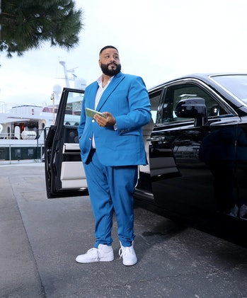 MARINA DEL REY, CALIFORNIA - MARCH 19: DJ Khaled on set during filming of the 2019 Kids Choice Awards, Show Open on March 19, 2019 in Marina del Rey, California. (Photo by Randy Shropshire/Getty Images for Nickelodeon)