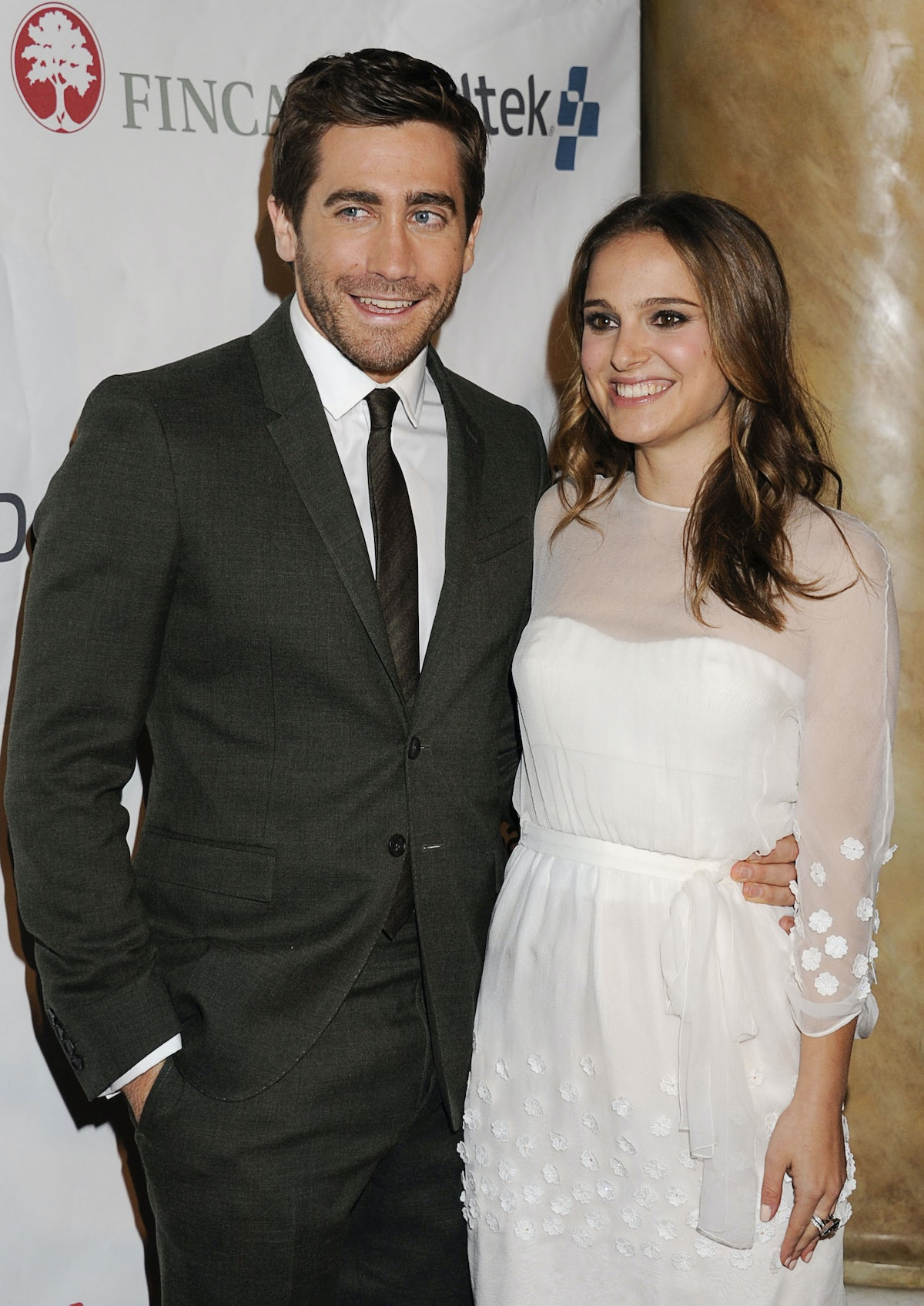 Jake Gyllenhaal and Natalie Portman attend the FINCA 25th anniversary celebration at Capitale on Nov...