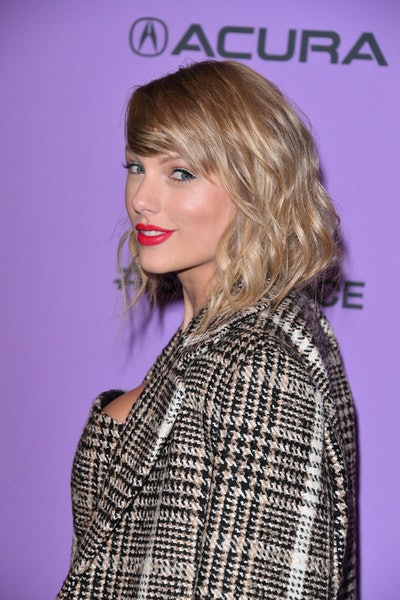 """PARK CITY, UTAH - JANUARY 23: Taylor Swift attends the 2020 Sundance Film Festival - """"Miss Americana"""" Premiere at Eccles Center Theatre on January 23, 2020 in Park City, Utah. (Photo by George Pimentel/Getty Images)"""