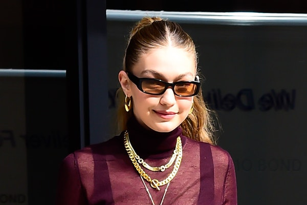 NEW YORK, NY - OCTOBER 26:  Model Gigi Hadid is seen walking in soho  on October 26, 2019 in New York City.  (Photo by Raymond Hall/GC Images)