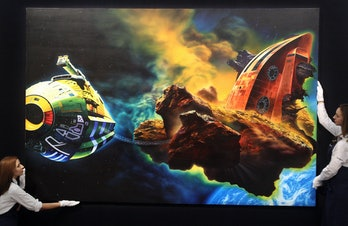 Glenn Brown's 'Ornamental Despair (Painting for Ian Curtis) after Chris Foss' valued at 2 to 3 milli...