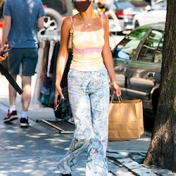 NEW YORK, NEW YORK - JULY 29: Bella Hadid is seen in Williamsburg on July 29, 2020 in New York City. (Photo by Gotham/GC Images)