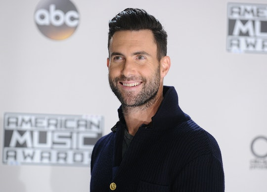 LOS ANGELES, CA - NOVEMBER 20:  Adam Levine of Maroon 5 poses in the press room at the 2016 American...