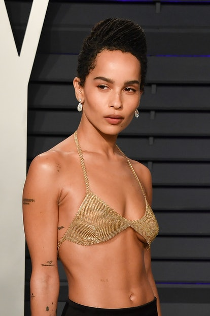 BEVERLY HILLS, CALIFORNIA - FEBRUARY 24: Zoë Kravitz attends the 2019 Vanity Fair Oscar Party hosted by Radhika Jones at Wallis Annenberg Center for the Performing Arts on February 24, 2019 in Beverly Hills, California. (Photo by George Pimentel/Getty Images)