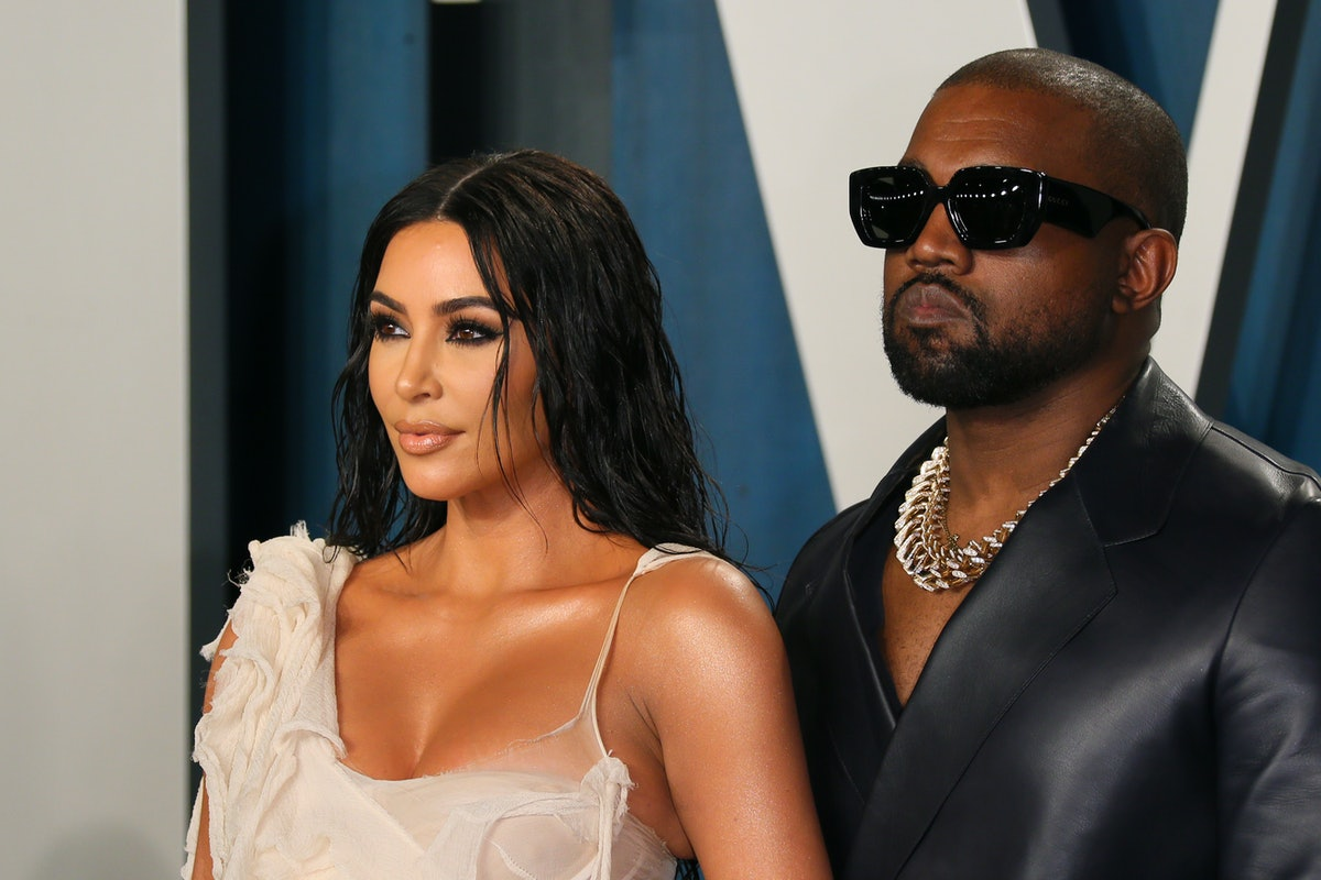 US media personality Kim Kardashian (L) and husband US rapper Kanye West attend the 2020 Vanity Fair...