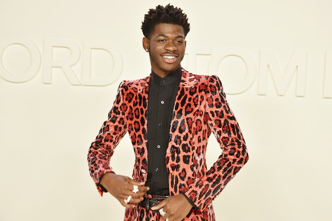 LOS ANGELES, CALIFORNIA - FEBRUARY 07: Lil Nas X attends the Tom Ford AW/20 Fashion Show at Milk Studios on February 07, 2020 in Los Angeles, California. (Photo by David Crotty/Patrick McMullan via Getty Images)