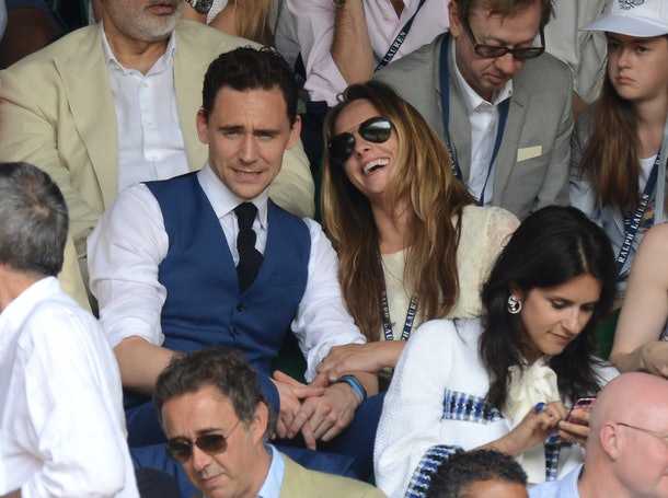 LONDON, ENGLAND - JULY 07:  Tom Hiddleston attends the Mens Singles Final on Day 13 of the Wimbledon Lawn Tennis Championships at the All England Lawn Tennis and Croquet Club on July 7, 2013 in London, England.  (Photo by Karwai Tang/WireImage)
