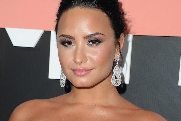 "LOS ANGELES, CA - OCTOBER 11:  Demi Lovato arrives at the premiere of YouTube's ""Demi Lovato: Simply Complicated"" on October 11, 2017 at the Fonda Theatre in Los Angeles, California.  (Photo by Jon Kopaloff/FilmMagic)"