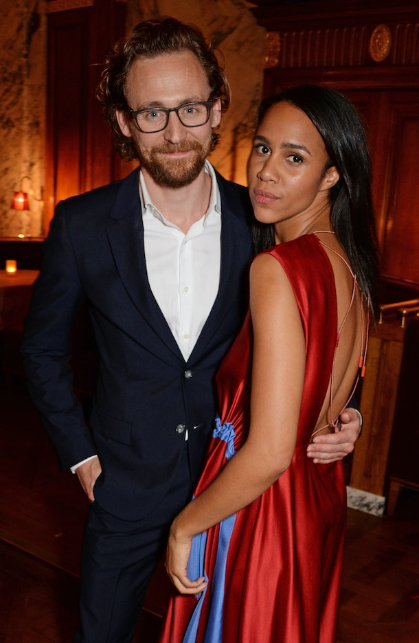 """LONDON, ENGLAND - OCTOBER 10:   Tom Hiddleston and Zawe Ashton attend an after party for """"Happy Birthday, Harold"""", a charity gala celebrating the life and work of Harold Pinter and the press night performance of """"Pinter At The Pinter"""", at Brasserie Zedel on October 10, 2018 in London, England.  (Photo by David M. Benett/Dave Benett/Getty Images)"""