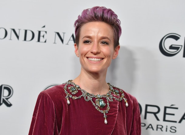 US soccer player Megan Rapinoe attends the 2019 Glamour Women Of The Year Awards at Alice Tully Hall, Lincoln Center on November 11, 2019 in New York City. (Photo by Angela Weiss / AFP) (Photo by ANGELA WEISS/AFP via Getty Images)