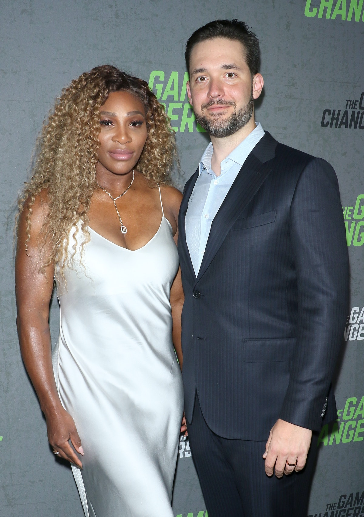 """NEW YORK, NEW YORK - SEPTEMBER 09: Tennis player Serena Williams and Alexis Ohanian attend the """"The Game Changers"""" New York premiere at Regal Battery Park 11 on September 09, 2019 in New York City. (Photo by Jim Spellman/Getty Images)"""