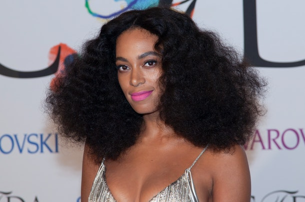 "Solange Knowles attends the ""2014 CFDA Fashion Awards"" red carpet arrivals at Alice Tully Hall in New York City. �� LAN (Photo by Lars Niki/Corbis via Getty Images)"