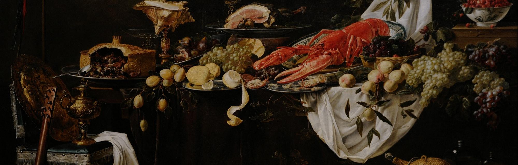 Adriaen van Utrecht (1599-1651/52). Flemish painter. Banquet Still Life, 1644. Rijksmuseum, Amsterdam, Holland. (Photo by: PHAS/Universal Images Group via Getty Images)