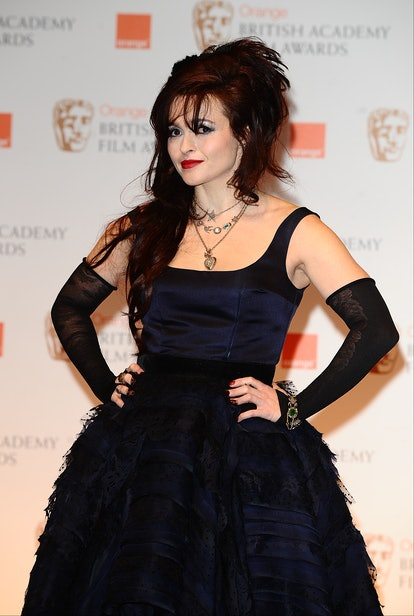 Helena Bonham Carter in the press room at the 2012 Orange British Academy Film Awards at the Royal Opera House, Bow Street, London.   (Photo by Ian West/PA Images via Getty Images)