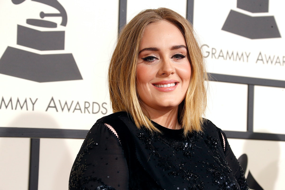LOS ANGELES, CA - FEBRUARY 15:  Recording artist Adele attends The 58th GRAMMY Awards at Staples Center on February 15, 2016 in Los Angeles, California.  (Photo by Jeff Vespa/WireImage)