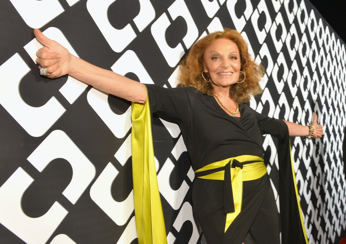LOS ANGELES, CA - JANUARY 10:  Designer Diane Von Furstenberg attends Diane Von Furstenberg's Journey of A Dress Exhibition Opening Celebration at May Company Building at LACMA West on January 10, 2014 in Los Angeles, California.  (Photo by Michael Buckner/Getty Images for Diane Von Furstenberg)