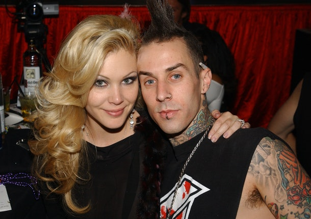 Shanna Moakler and Travis Barker during Beachers Comedy Madhouse - October 9, 2004 at The Hard Rock Hotel and Casino in Las Vegas in Las Vegas, Nevada, United States. (Photo by Denise Truscello/WireImage)