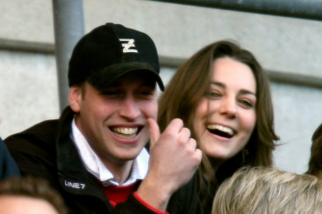 Prince William and Kate Middleton hanging out.