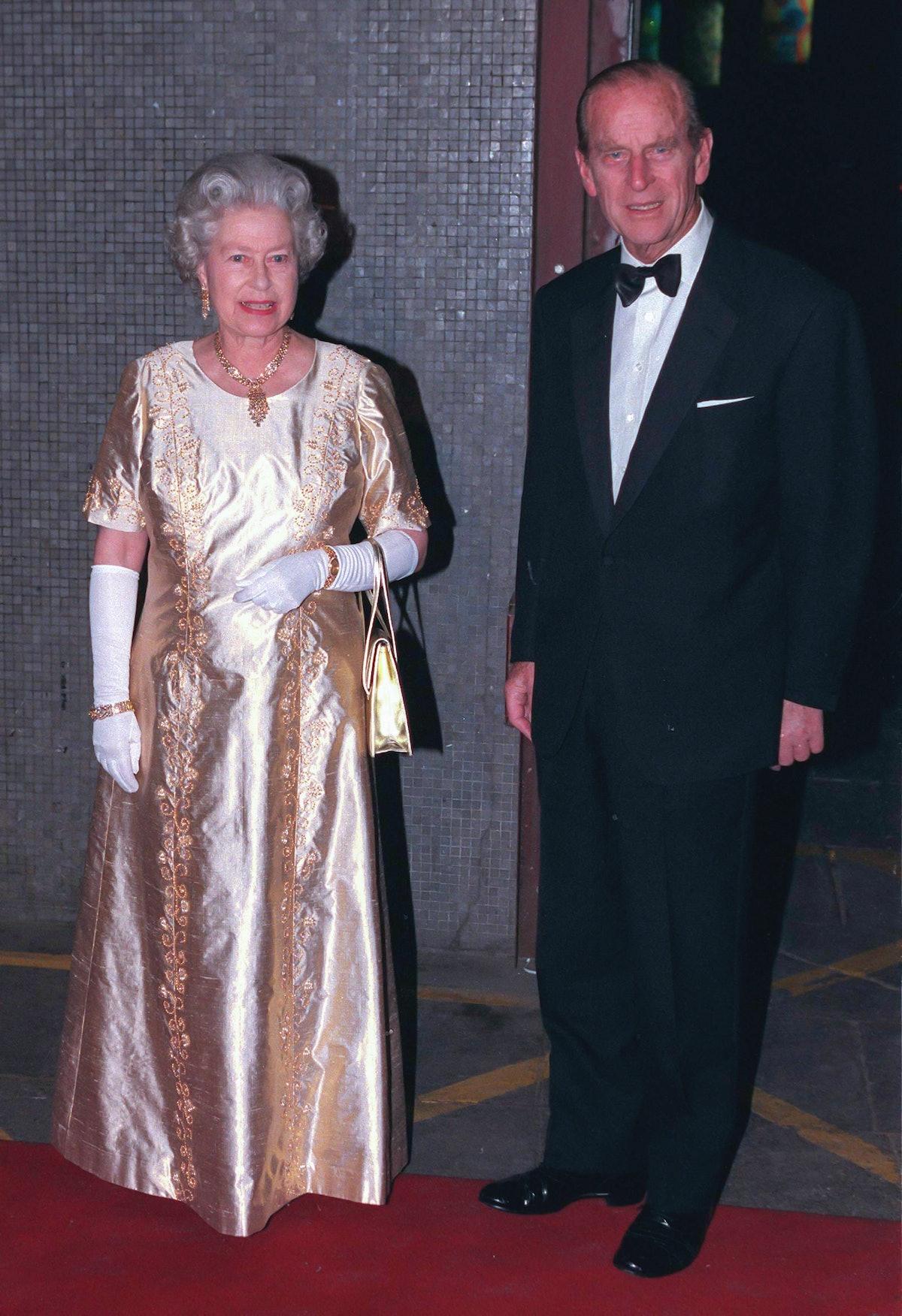 LONDON, UNITED KINGDOM  -  NOVEMBER 11  Queen Elizabeth II, and Prince Philip, The Duke of Edinburgh...