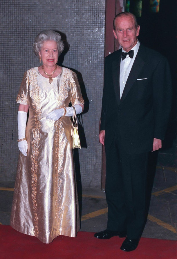 LONDON, UNITED KINGDOM  -  NOVEMBER 11  Queen Elizabeth II, and Prince Philip, The Duke of Edinburgh attend a Gala Concert at The Royal Festival Hall,  to celebrate their Golden Wedding Anniversary. on November 11  1997  in London, United Kingdom.  (Photo by UK Press via Getty Images)