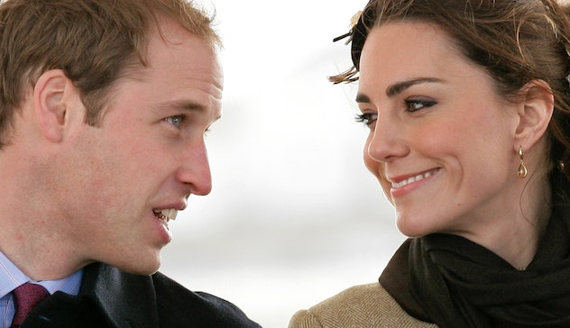 Kate Middleton and Prince William look lovingly at each other.