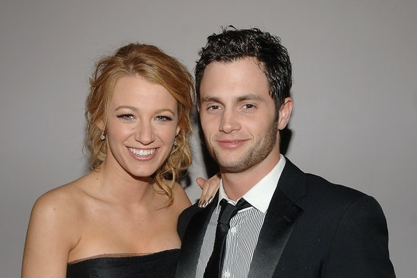 NEW YORK - MAY 05:  Blake Lively and Penn Badgley attend the Nina Ricci After Party For Met Ball Hosted By Olivier Theyskens and Lauren Santo Domingo at Philippe in New York on May 5,2008  (Photo by Jamie McCarthy/WireImage)