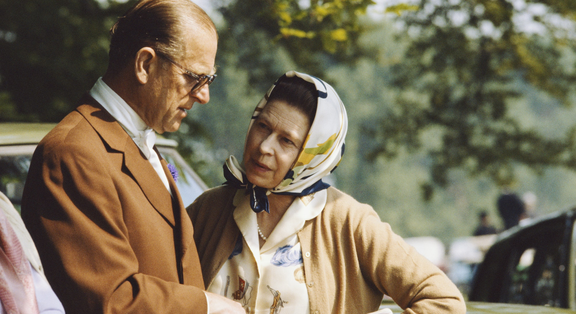 Queen Elizabeth And Prince Philip During The 1982 Royal Windsor Horse Show