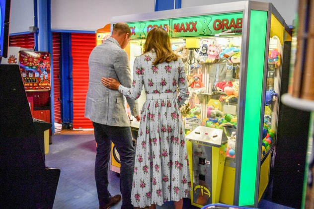 Kate Middleton and Prince William had fun at an arcade.