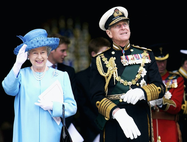 LONDON, ENGLAND JUNE 4:  (FILE PHOTO)  Queen Elizabeth II and Prince Philip, the Duke of Edinburgh leave a service at St. Paul's Cathedral celebrating the Queen's Golden Jubilee in this June 4, 2002 file photo in London, England.  (Photo by Anwar Hussein/Getty Images)