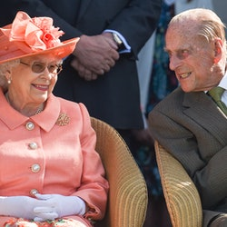 EGHAM, ENGLAND - JUNE 24: Queen Elizabeth II and Prince Philip, Duke of Edinburgh attend The OUT-SOU...