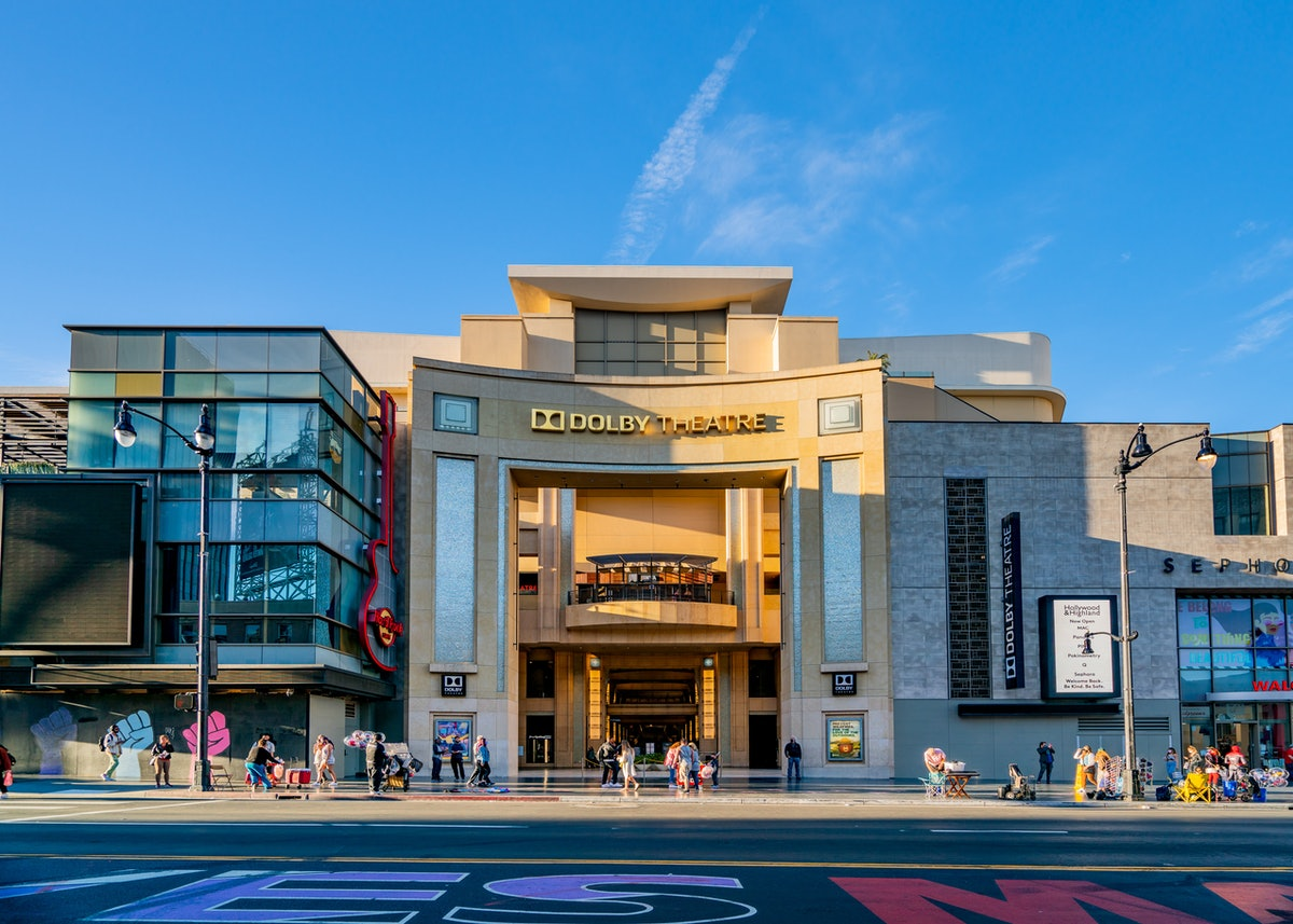 HOLLYWOOD, CA - MARCH 19: A general view of the Dolby Theatre, home of the Oscars on Hollywood Blvd on March 19, 2021 in Hollywood, California.  (Photo by AaronP/Bauer-Griffin/GC Images)