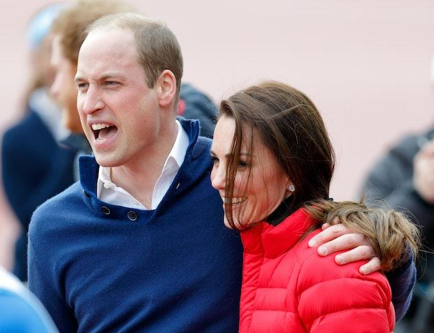 Prince William hugs Kate Middleton in 2017.