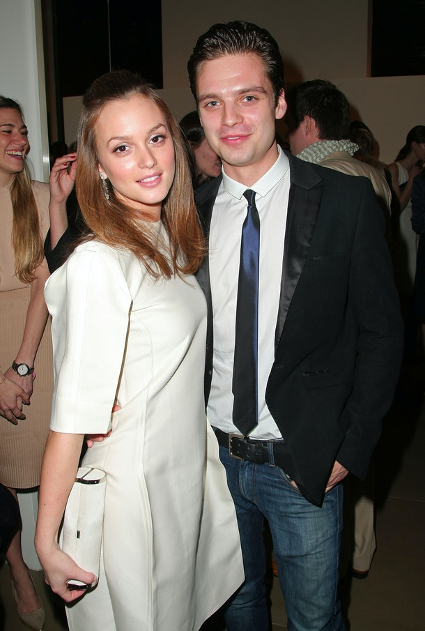 NEW YORK - APRIL 02:  Actors Leighton Meester and Sebastian Stan attend the Parsons Fashion Benefit 2009 Pre-party at Calvin Klein Collection on April 2, 2009 in New York City.  (Photo by Andrew H. Walker/Getty Images)
