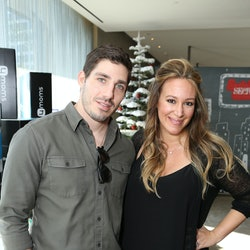 LOS ANGELES, CA - DECEMBER 06:  Matt Rosenberg and actress Haylie Duff attend the 4th Annual Santa's Secret Workshop Benefiting LA Family Housing at Andaz Hotel on December 6, 2014 in Los Angeles, California.  (Photo by Tiffany Rose/WireImage)