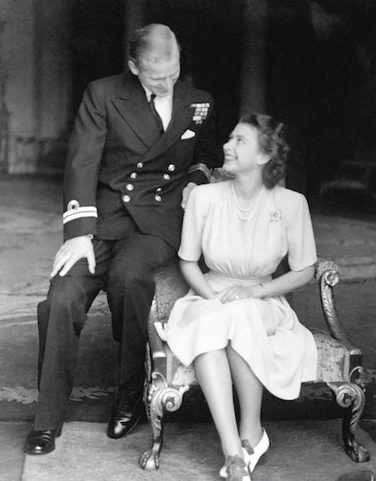 The engagement of Princess Elizabeth to Lieutenant Philip Mountbatten is announced and the happy you...