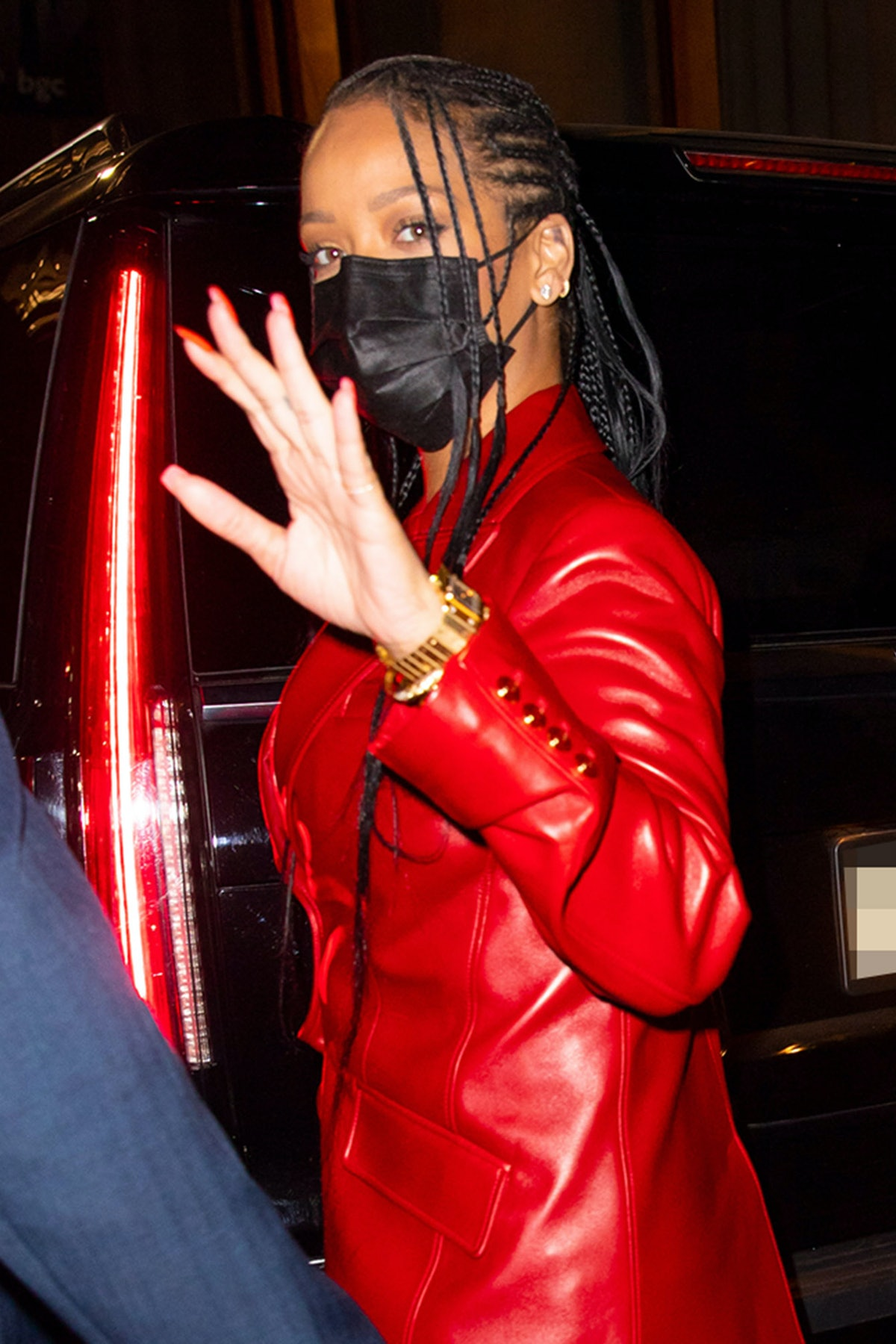 NEW YORK - APRIL 06: Rihanna is seen at Nobu on April 6, 2021 in New York City. (Photo by Gotham/GC images)