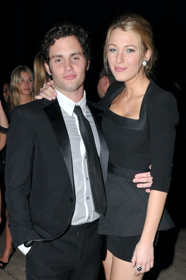 NEW YORK CITY, NY - OCTOBER 20: Penn Badgley and Blake Lively attend DENISE RICH Hosts 2009 ANGEL BALL at Cipriani Wall Street on October 20, 2009 in New York City. (Photo by JONATHON ZIEGLER/Patrick McMullan via Getty Images)