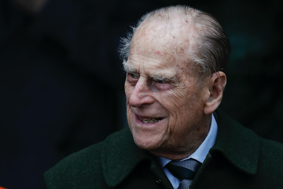 Britain's Prince Philip, Duke of Edinburgh leaves after attending Royal Family's traditional Christmas Day church service at St Mary Magdalene Church in Sandringham, Norfolk, eastern England, on December 25, 2017. / AFP PHOTO / Adrian DENNIS        (Photo credit should read ADRIAN DENNIS/AFP via Getty Images)