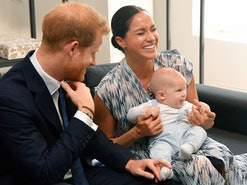 Prince Harry, Duke of Sussex, Meghan, Duchess of Sussex and their baby son Archie Mountbatten-Windso...