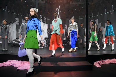 MILAN, ITALY - FEBRUARY 19: Models walk the runway at the Gucci Fall/Winter 2020/21 fashion show dur...