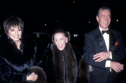 New York City December 7: Actress/Singer Liza Minnelli, dancer/choreographer Martha Graham and fashion designer Halston attend the Martha Graham Center for Contemporary Dance Benefit Gala Hosted by Liza Minnelli and Ivana Trump on December 7, 1988 at the Martha Graham Center for Contemporary Dance in New York City.  (Photo by Ron Galella, Ltd./Ron Galella Collection via Getty Images)