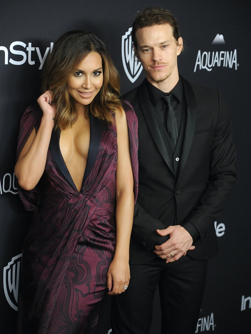 BEVERLY HILLS, CA - JANUARY 10:  Actors Naya Rivera and husband Ryan Dorsey arrive at the 2016 InStyle And Warner Bros. 73rd Annual Golden Globe Awards Post-Party at The Beverly Hilton Hotel on January 10, 2016 in Beverly Hills, California.  (Photo by Gregg DeGuire/WireImage)