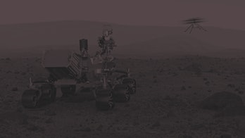Artwork of NASA's Mars 2020 mission. The mission consists of a 3-metre-long rover called Perseveranc...