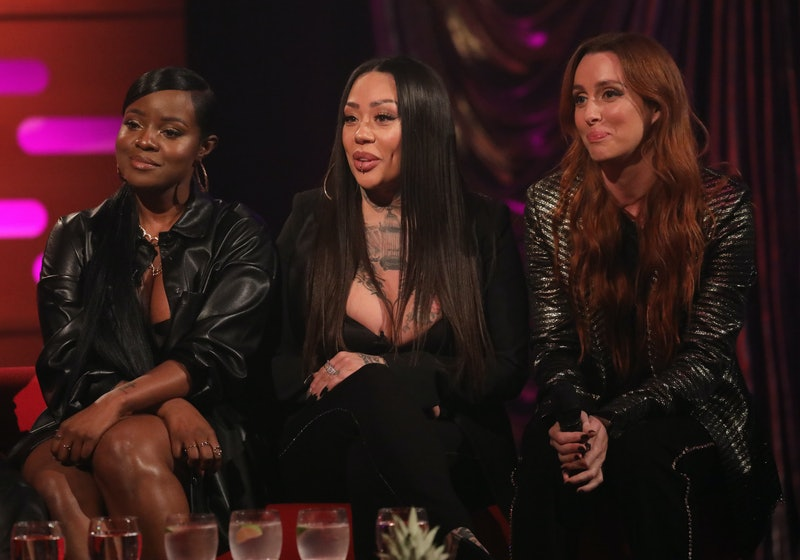 (left to right) Keisha Buchanan, Mutya Buena and Siobhn Donaghy of the Sugarbabes during the filming for the Graham Norton Show at BBC Studioworks 6 Television Centre, Wood Lane, London, to be aired on BBC One on Friday evening. (Photo by Isabel Infantes/PA Images via Getty Images)