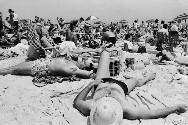 A crowded beach in 1964.