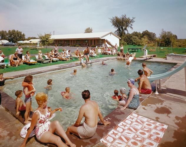 1950s pool resort.