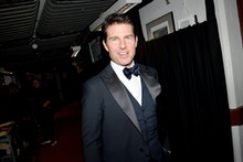 LONDON, ENGLAND - DECEMBER 02: Tom Cruise backstage stage during The Fashion Awards 2019 held at Roy...