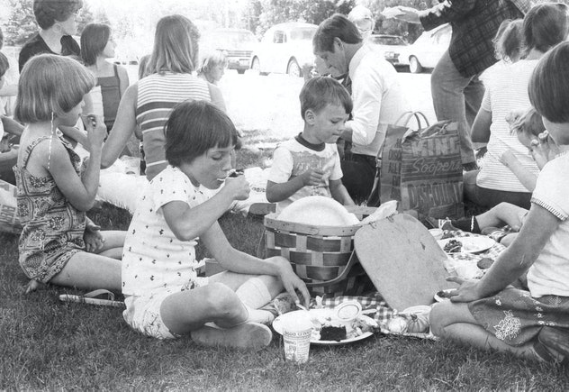 Nothing like a potluck picnic in the summer.